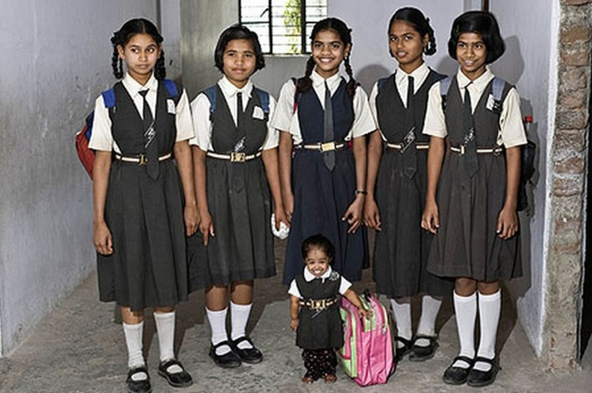 Jyoti back in her school days.