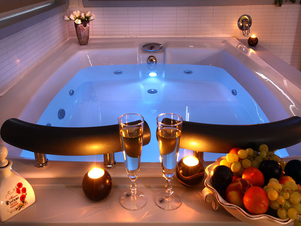 romantic bathtub ideas - HD 1024×768