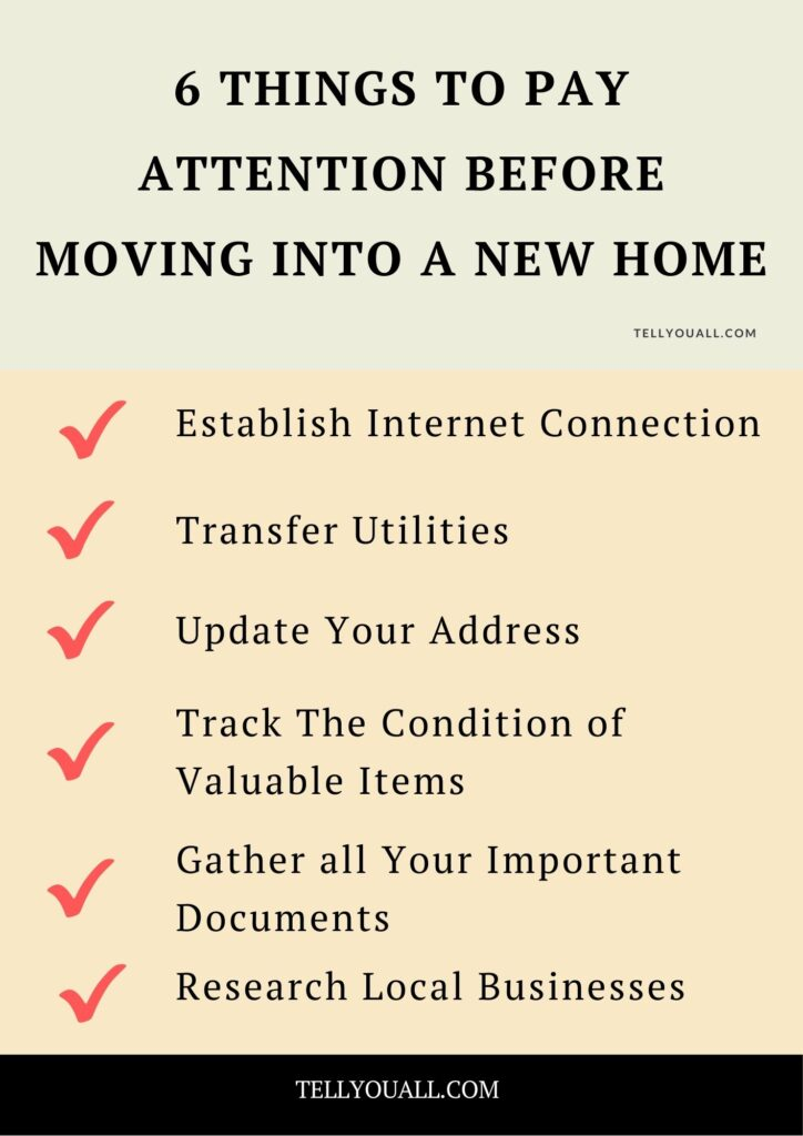 Things to Pay Attention Before Moving Into a New Home